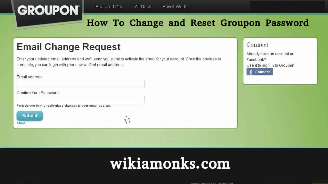 How to Change and Reset a Groupon Password | Wikiamonks