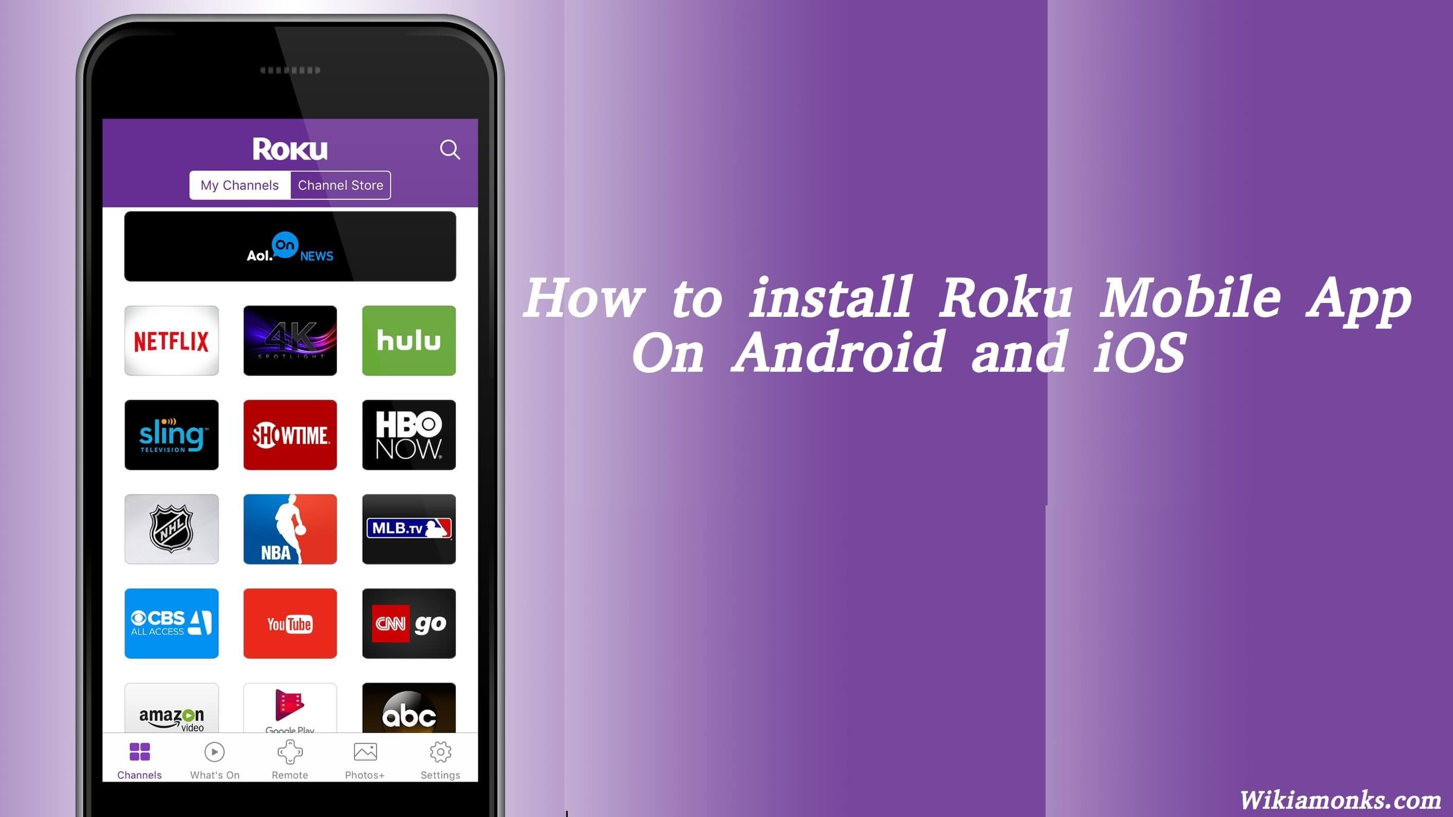 install an app on roku