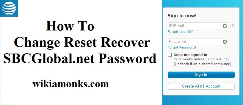 How to Change Reset Recover SBCglobal Email Password
