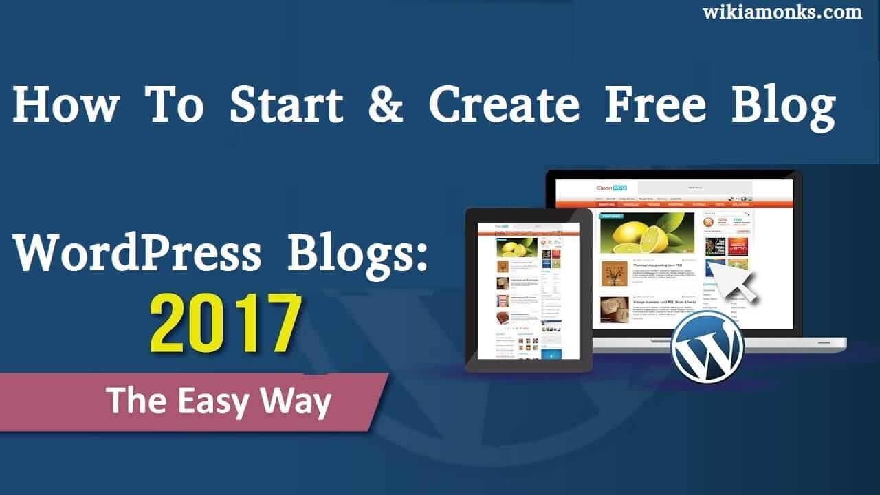 create a free wordpress blog