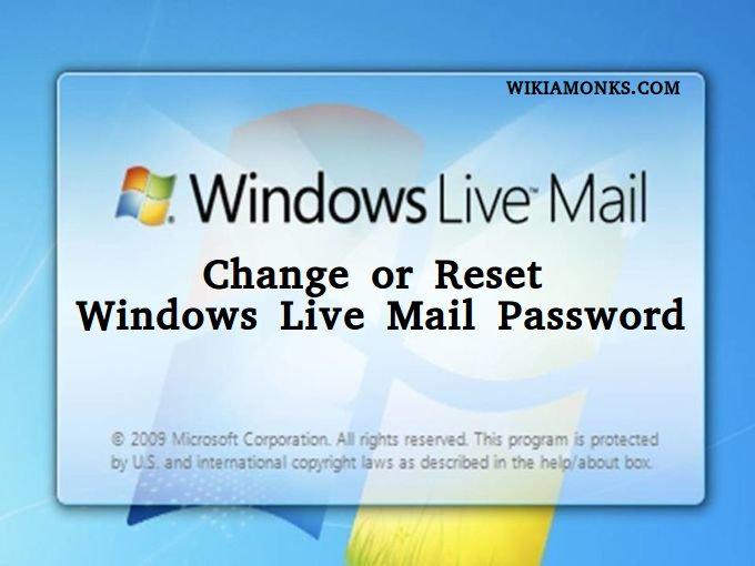 how do i change my windows live password
